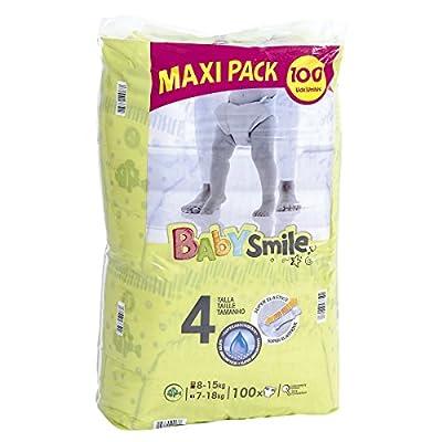 BABYSMILE pañales 8-15 kgs talla 4 paquete 100 uds