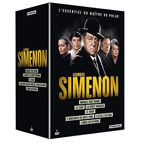 Coffret Georges Simenon: Le chat + L'étoile du nord + L'horloger de Saint-Paul + Maigret voit rouge + L'ours en peluche + Le train + La veuve Couderc