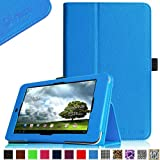 Fintie Folio Case for ASUS MeMO Pad 7 ME176CX / ME176C Tablet Premium Vegan Leather Slim Fit Stand Cover With Stylus Holder, (MeMO Pad HD 7 ME173X, *Blue)