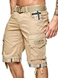 Geographical Norway Herren Cargo Short Priority in Beige Größe S