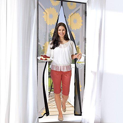 """Moskitonetz für Türen (90 x 210 cm) Fliegengitter für Fenster (150 x 130 cm) """"Magic Click"""" aus der TV Werbung mit automatischem Magnetverschluss (Version 2018) Selbstklebender Türvorhang, Fliegenvorhang, Fliegenschutzgitter, Insektenschutz, Türfliegengitter, Fliegennetzt, Fliegenschutz (90 x 210 für Türen / Sonnenblume)"""