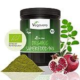 Super Alimentos Orgánicos mezcla mujer 480G de vegavero, Raw calidad de los alimentos, de Por Vida garantía de satisfacción, 17diferentes Superfoods incl., de Moringa Oleifera té Matcha, germinado, hierba de cebada, Vegan, 480g