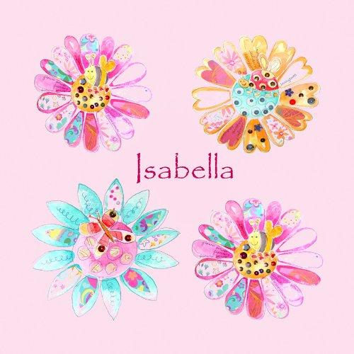 Stampe su tela, fiori, regalo personalizzato. - Stampa Baby Names