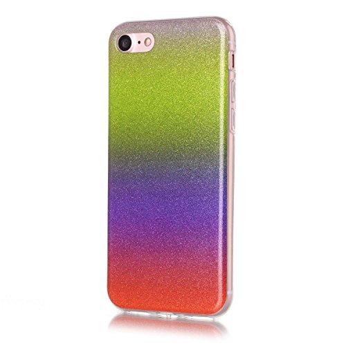 JIALUN-Telefon Fall IPhone 7 Fall, Farbverlaufsmuster Ultradünne TPU Rückseitige Abdeckung Weicher Fall Für Apple IPhone 7 ( Color : F , Size : IPhone7 ) E