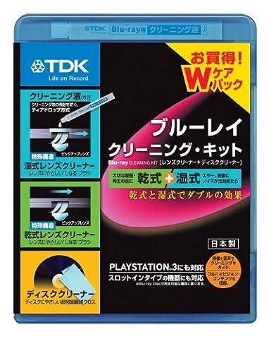 sec & Humide lentille TDK Blu-ray pour PS4/PS3/Lecteur Blu-ray/Kit de nettoyage–2disques d'erreur -