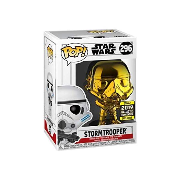 Funko Pop Stormtrooper Dorado-Cromado (2019 Galactic Convention) (Star Wars 296) Funko Pop Star Wars