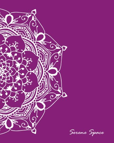 Serene Space: Purple Dot Grid Notebook Mandala Art Large, 150 Dotted Pages, Softcover (Dot Grid Journal Large, Band 5) - Serena Grid
