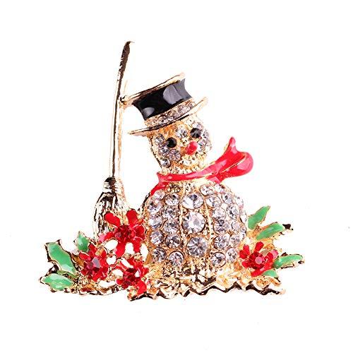 Gysad Muster Schneemann Broschen für Kleidung Lindo Vintage Alfiler Brosche Schal Hut für Mädchen Hochzeit Make up Geschenk Weihnachten
