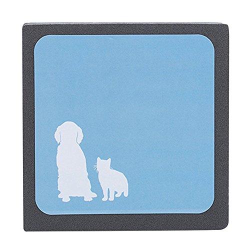 Esponja de espuma para mascotas Hifuture azul con cepillo de limpieza para perros y gatos reutilizable