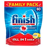 Finish All in One Max Lemon Tablets, Pack of 80