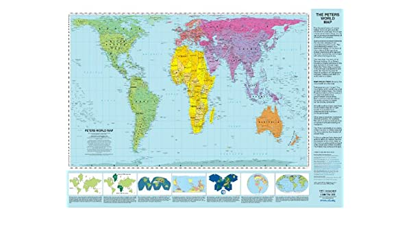 Peters projection world map laminated amazon arno peters peters projection world map laminated amazon arno peters books gumiabroncs Image collections
