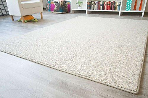 Designer-Teppich-Modern-Berber-Sydney-in-Creme-Wollsiegel-Qualitt-Gre-80x160-cm
