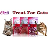 Pets Empire New Combo Offer O'Cat Chicken Bite Cat Treat ( 50 Gms ) + O'Cat TUNA IN FISH SHAPE Cat Treat ( 50 Gms ) + O'Cat Chicken & Cod Granule Cat Treat ( 50 Gms ) (Treat For Cats)