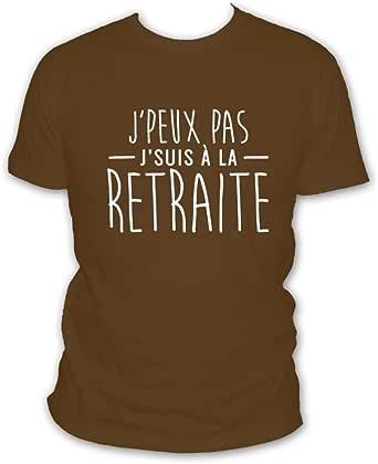 """L'abricot blanc """"J'peux Pas j'suis retreat"""" T-Shirt - Humour de start à la Retraite [French Language]"""