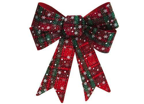 33cm Großer Tartan Weihnachtsdekorativer Bogen - Weihnachtsdekord - Weihnachtszubehör