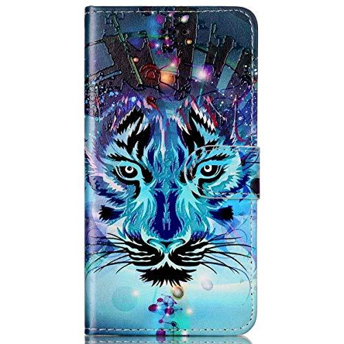 kompatibel mit Galaxy S7 Edge Hülle,Galaxy S7 Edge Schutzhülle,Surakey Lederhülle Galaxy S7 Edge PU Leder Flip Case Brieftasche Hülle Wallet Tasche Case für Galaxy S7 Edge,Blue Wolf (Edge Blue)