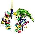 Vaycally Pet Bird Climbing Swing Chewing Playground Ara Cacatua Uccelli Appeso Giocattolo Hanging Persico, Accessori Decorativi per Piccolo Parrocchetto Gabbie Suit