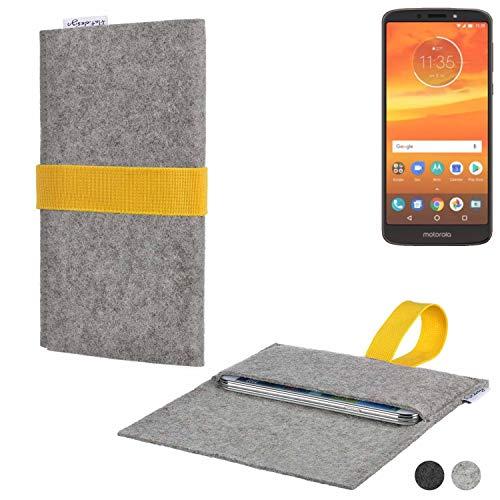 flat.design Handy Hülle Aveiro für Motorola Moto E5 Plus Dual-SIM handgefertigte Filz Tasche Case Sleeve fair