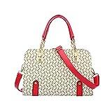 KAIDILA Handtaschen für Frauen PU Leder Damen Kollision Farbe Gestaltung Destruktivität Umhängetasche Fashion-Tragetasche und Casual Weiss Blau und Pink