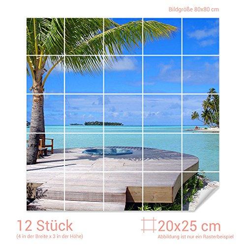 Fliesen Palmen Wohnzimmer