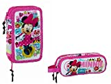 Minnie Mouse Federmäppchen Disney Federmappe Mappe 28 TLG + Schlamper Etui (114)