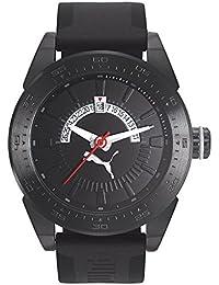 7e660d025 PUMA Time Reloj Analógico para Hombre de Cuarzo con Correa en Silicona  PU104201003