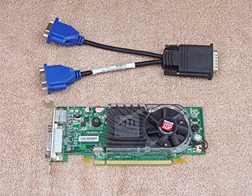 Ayazscmbs Kühler Lüfter kompatibel für Dell ATI Radeon HD 3450 256MB PCIe Video Card Y104D DMS-59 Low Profile w/Cable - Ati Radeon Hd 3450