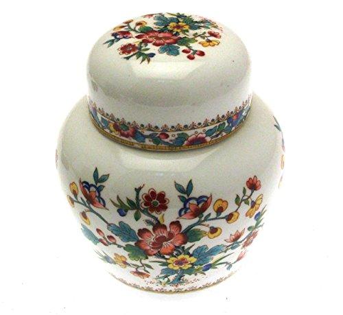 Ming Rose Coalport Buchstütze Ginger Jar 11,5cms -