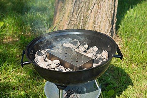 51ZFyXyNVSL - Rosenstein & Söhne Smokerbox: Räucherbox aus rostfreiem Edelstahl, für Gas- und Holzkohlegrills (BBQ-Räucherbox)