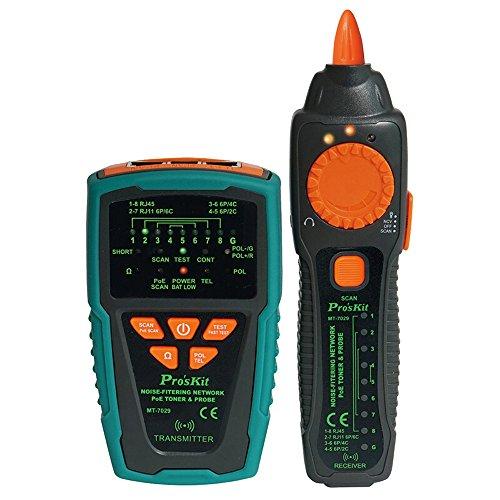 Pro \'sKit mt-7029-c noise-filtering Netzwerk PoE Toner & Sonde Tester Kit, Multifunktions RJ11RJ45Line Finder Kabel Tester für Netzwerk Kabel Kollation, Telefon Line Test, Kontinuität Überprüfen