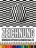 Clip: Zeichnung Bewegliche optische Illusion des Ball-3D