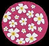 Duschhaube Weinrot Shower Cap Blumen-Motiv
