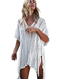 89c09742b Amazon.es  vestidos blanco playa - Conjuntos   Bikinis  Ropa