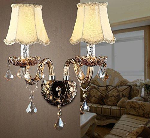 Crystal Wandleuchte Led Schlafzimmer Nachttischlampe Hotel Wohnzimmer Treppenhaus Kerze Wandleuchte,EIN,Durchmesser 200 hoch 390MM (Treibholz Wandleuchte Kerze)