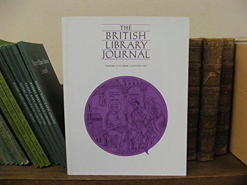 The British Library Journal, Volume 22, Number 2, Autumn 1996