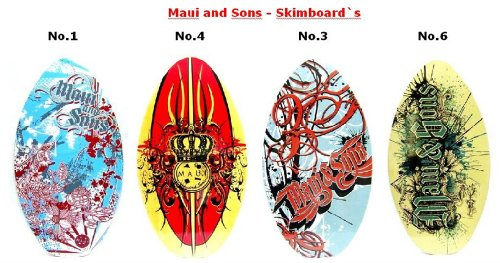 MAUI & SONS Wave Kinder Skimboard No 4 - rot