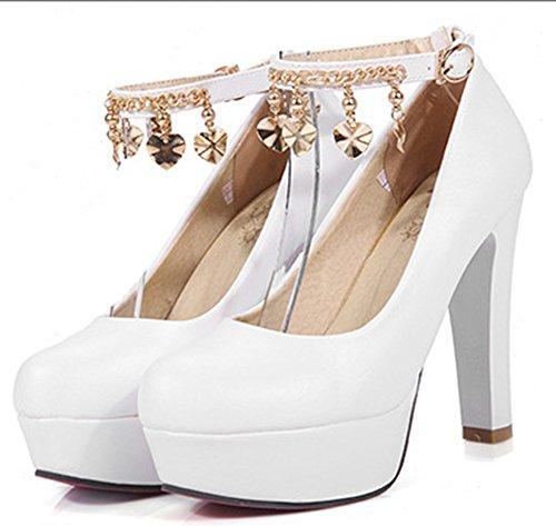 Platform Aisun Sexy Shoes Bianche Donna Dopo Round w8IFa8q