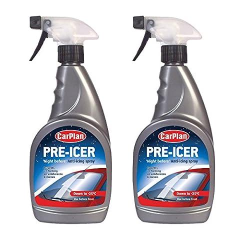 2 x Carplan Pre Icer 500ml Night Before Anti Icing Spray