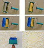 #5: Generic 15cm Flower Embossed Painting Roller Wallpaper Tool for DIY Wall Decoration