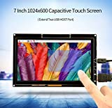 CQRobot 7 inch Monitor, HDMI Capacitive Touch Screen 1024*600 High Solution, TFT LCD Display For Raspberry Pi, BB Black, Win10, Mac Book Pro.