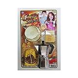 TrAdE Shop Traesio - Moka CAFFETTIERA Tazza con Piatto Cucchiaio Caffe' Zucchero Latte Gioco Bambine