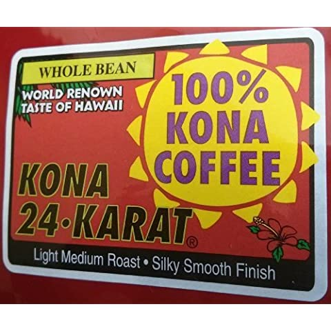 Lion 100% Pure Kona Coffee 24 Oz. Whole Bean by Lion Coffee