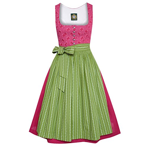 Hammerschmid Damen Trachten-Mode Midi Dirndl Pillersee in Weinrot traditionell