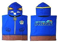 Kids Paw Patrol Bath Towel Poncho - Chase