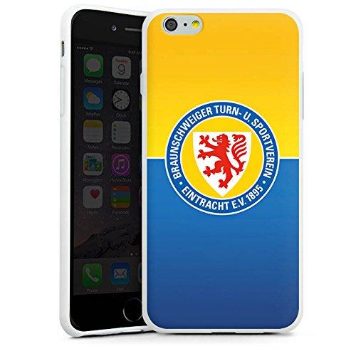 Apple iPhone 7 Tasche Hülle Flip Case Eintracht Braunschweig Fanartikel BTSV Silikon Case weiß