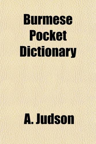 Burmese Pocket Dictionary