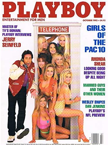 Playboy Sheer (US Playboy Magazin Oktober 1993 Zeitschrift Original Ausgabe USA 10/1993 Jenny McCarthy Girls of Pac 10, Rhonda Sheer Jerry Seinfeld Wesley Snipes)