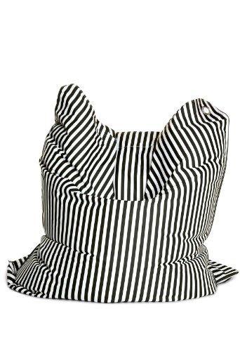 Sitting Bull 634016 Sitzsack Fashion Bull / 190 x 130 cm/Black & White