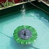 Foglia di Loto Galleggiante Pompa Fontana Solare Con Pannello Solare da 1.4W per Piccolo Stagno, Decorazione del Giardino