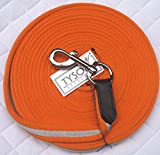 Longe Longierleine Softlonge Orange 8 Meter Pferdelonge Drehkarabiner Schleppleine